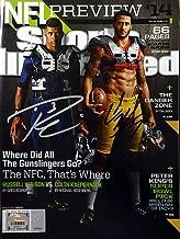 Russell Wilson and Colin Kaepernick Signed Sports Illustrated Magazine Seattle Seahawks RW - Autographed NFL Football Memorabilia