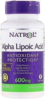 Natrol Alpha Lipoic Acid Time Release 600mg 45 Tablets 2pk