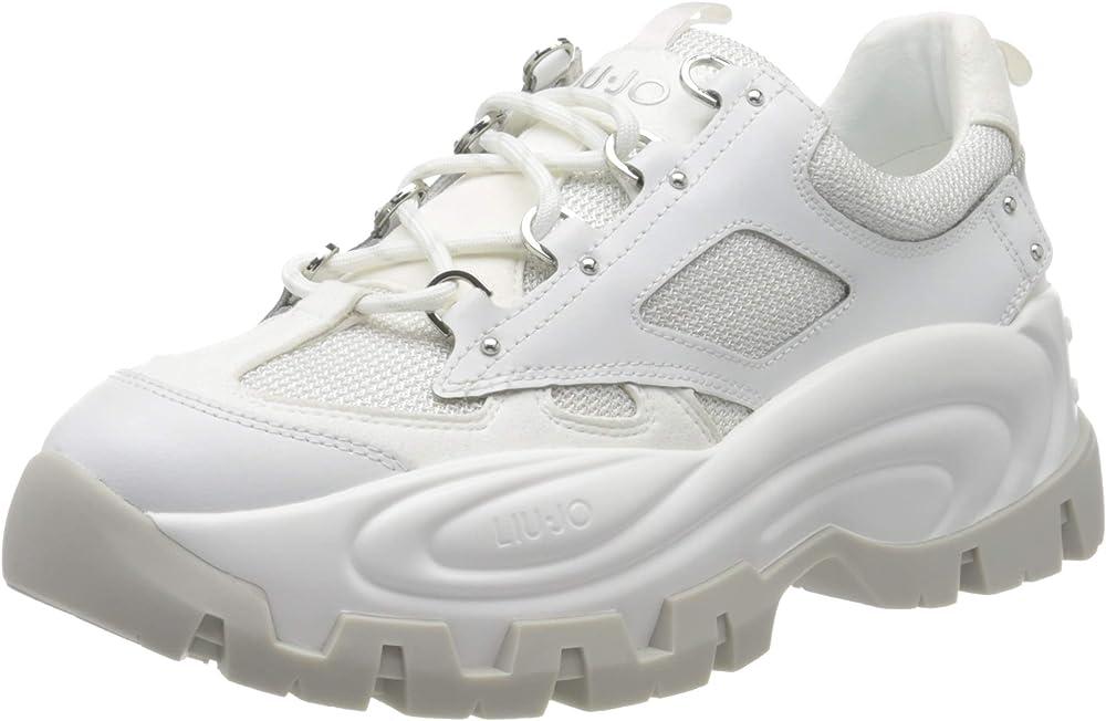Liu jo jeans wave 01,sneakers,scarpe sportive per donna,in pelle BA0023TX09201111