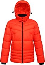 Rokka&Rolla Men's Water-Resistant Hooded Thickened Insulated Quilted Puffer Coat Heavy Padded Winter Parka Anorak Jacket