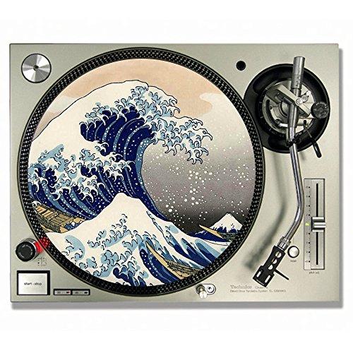 Slipmats für DJs, für Vinyl-Platten, Motiv: Die große Welle vor Kanagawa , Drucktechnik von Katsushika Hokusai 7inch