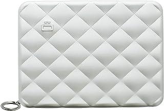 Ögon Smart Wallets - Portefeuille matelassé Quilted Passport en Aluminium - Protection RFID - Capacité : 15 Cartes, Passep...