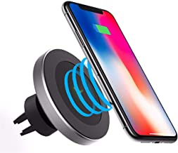 Wireless Magnetic Car Charger, SAMARAY Charging Car Mount Air Vent/Stand 7.5W Compatible Apple iPhone 11/Xs/Xr/X/8, 10W Compatible Samsung Galaxy Note 10/S10/S9/S8/S7/S6, All Qi-Enable
