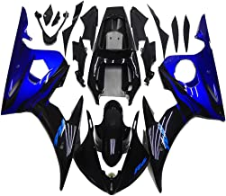 NT FAIRING Glossy Black Blue Injection Mold Fairing Fit for Yamaha YZF 2003-2005 R6 & 2006-2009 R6S New Painted Kit ABS Plastic Motorcycle Bodywork Aftermarket