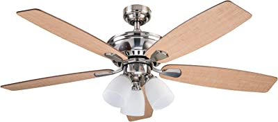 Prominence Home 80135-01 Amos Ceiling Fan, 52, Brushed Nickel