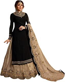 Infamiss Sharara Salwar Suit For Women Heavy Georgette With Embroidery & Stone With Inner Dupatta Nazneen (Semi Stitched)