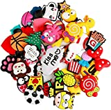 50 Pcs Different Shoe Charms Fits for Shoes Decorations Wristband Bracelet Party Gift