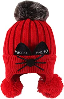 Ourine Baby Kitty Winter Hat Boy Cap Girl Cotton Hat Baby Warm Cap Boy Thick Hat for Infant Unisex