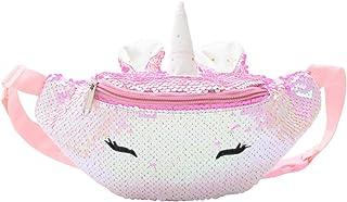 Girls Waist Pack Glitter Reversible Sequin Fanny Pack Cute Unicorn Causal Belt Bag for Kids Teens Women