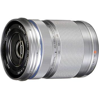 Olympus M.Zuiko Digital ED 40-150mm F4.0-5.6 R Zoom Lens, for Micro Four Thirds Cameras (Silver)