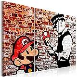 decomonkey Bilder Mario and Cop Banksy 120x80 cm 3 Teilig