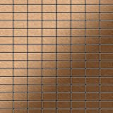 Azulejo mosaico de metal sólido Titanio Amber cepillado cobre 1,6 mm de grosor ALLOY Bauhaus-Ti-AB 1,05 m2