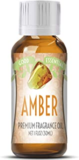 Amber Scented Oil by Good Essential (Huge 1oz Bottle - Premium Grade Fragrance Oil) - Perfect for Aromatherapy, Soaps, Candles, Slime, Lotions, and More!