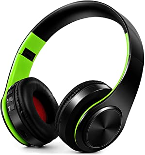 FARVOICE Bluetooth Headphones On Ear Stereo Wireless Headset Wireless Headphone Headset with Microphone for PC/Cell Phones/TV (Green-Black)