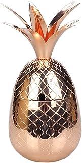 Roestvrijstalen ananascocktailglas 900 ml goudkleurig roestvrijstalen cocktailglas