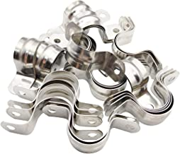 Sipery 30Pcs Two Hole Strap U Bracket Tube Strap Tension Clips M25 304 Stainless Steel Rigid Pipe Strap Fit for 1 inch Pipes
