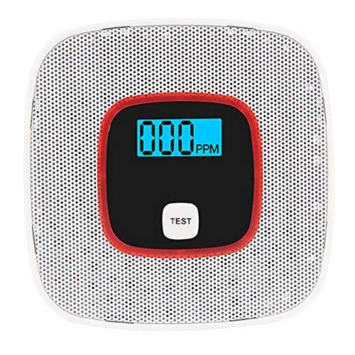 Kohlenmonoxid-gasalarm Kohlenmonoxid-detektor Haushaltsgasleckalarm Smart Co-detektor Mit Digitaler Anzeige Überwachung Brennbares Gasgehaltes: Methan Butan Weiß