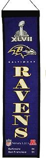 Winning Streak NFL Baltimore Ravens 8x32 Wool Heritage Super Bowl 47 Banner, Team Color, One Size
