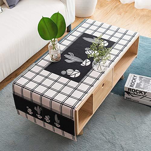 WFSDKN tafelkleed Nordic Eettafel Cover Home Decoratieve Tafelkleed Rechthoekige Jute Tafellopers Party Bruiloft Tafelkleed Katoen Linnen
