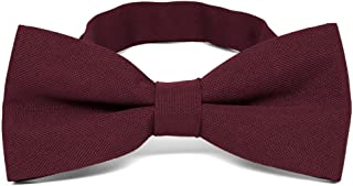 TieMart Dark Burgundy Matte Finish Bow Tie