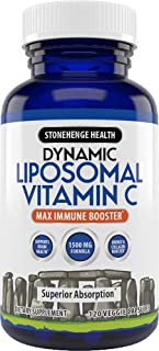 Liposomal Vitamin C 1500mg - 120 Capsules - Advanced Formula - Non-GMO Sunflower Lecithin - High Absorption & Fat-Soluble,...