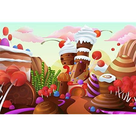 SZZWY 5x3ft Chocolate Backdrop Sweet Birthday Party Background for Photography Candyland Party Decor Banner Children Photo Shoot Supplies