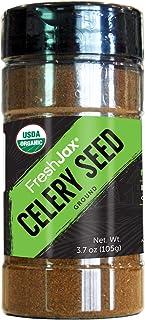 FreshJax Premium Organic Spices, Herbs, Seasonings, and Salts (Certified Organic Celery Seed Ground - Large Bottle)
