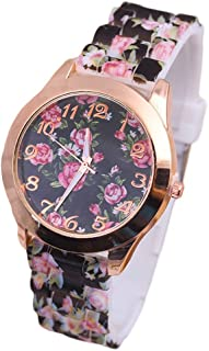 2017 Womens Flowers Watches COOKI Clearance Quartz Female Watches on Sale PU Leather Lady Watches-H28