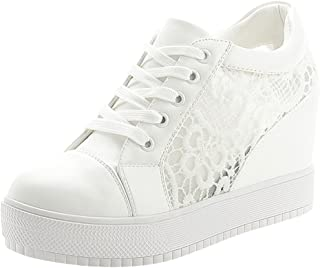 haute qualité chaussures décontractées nouveau authentique Amazon.fr : basket a talon compensé - 37