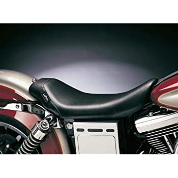 Le Pera LSM-007 Black Smooth Bare Bones Solo Driver Seat Harley FLS Slim 16-17