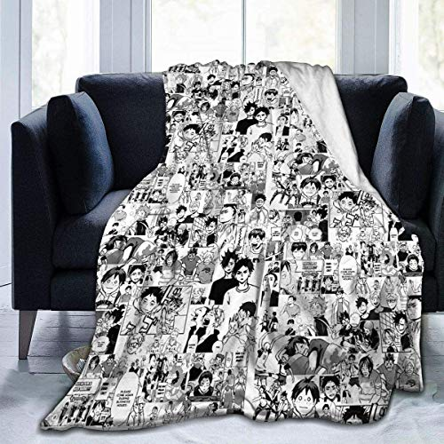 HUYIN Haikyuu! Manta de cama de felpa suave de microfibra para sala de estar 60 'X50' Meduim