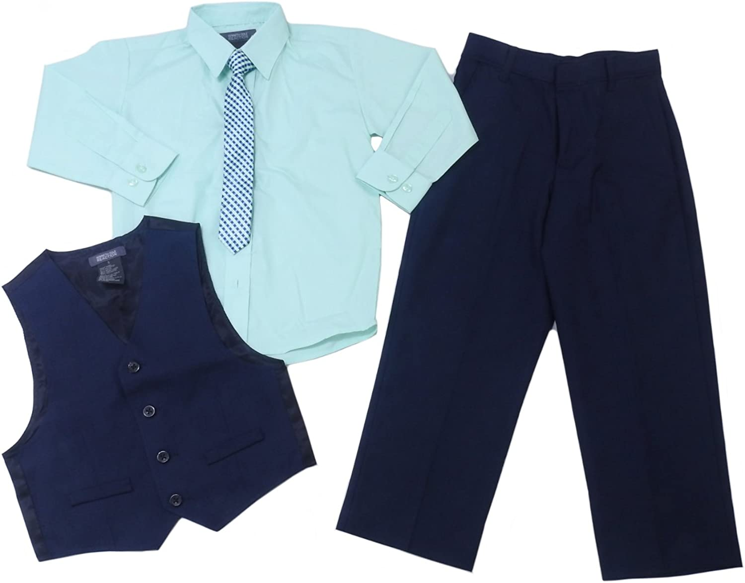 Max 63% OFF Kenneth Cole Reaction Ranking TOP11 Boys 4-Piece Mint Suit Set Navy Pants