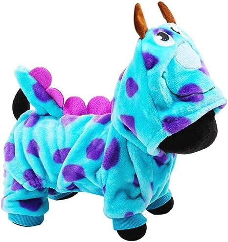 AMOYER Los Perros Mascota Cachorro De Navidad Pijamas Ropa Dragón De Burbuja De Vestir con Capucha Mono Abrigos De Vestuario