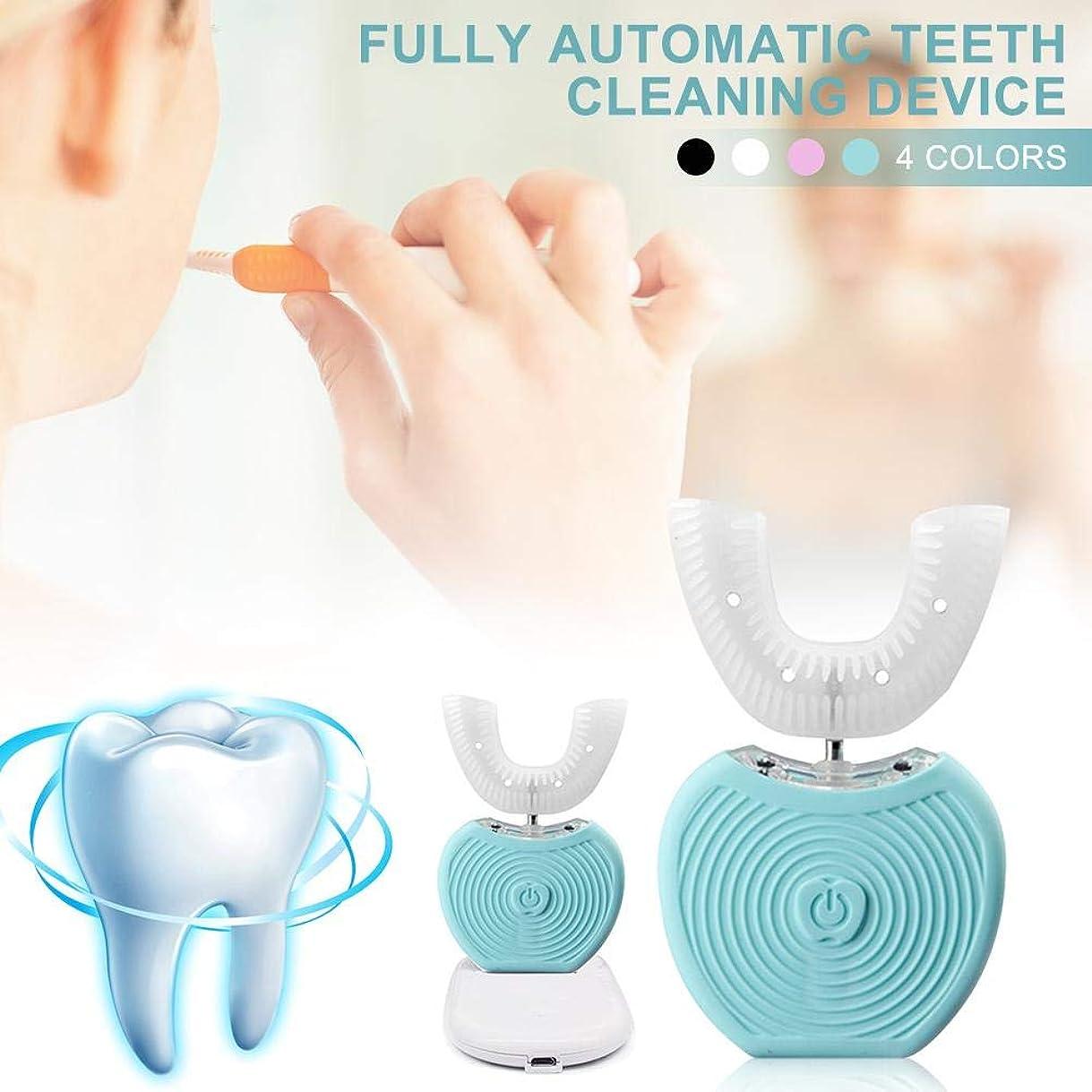 通知する道に迷いました逆USBポータブル電動歯ブラシ IPX7防水 ブルーレイホワイトニングツール AI自動メモリー機能 360度オールラウンド歯ブラシ