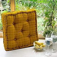 COZY FURNISH Square Floor Pillow Tufted Cushion Thick Chair Pads, Chair Cushion, Back Support Cushion, Seat Cushion 16...