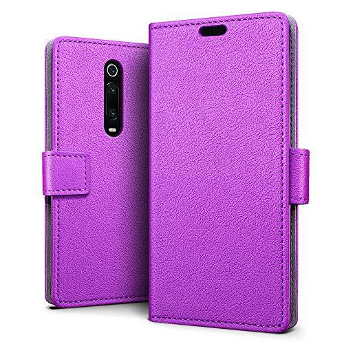 Case for Xiaomi Mi 9T / 9T Pro / Redmi K20 / Redmi K20 Pro, SLEO [Premium Protective Wallet] Cover for Xiaomi Mi 9T / 9T Pro / Redmi K20 / K20 Pro, 2-Card Slot, [PU leather] Waterproof Dustproof - Purple