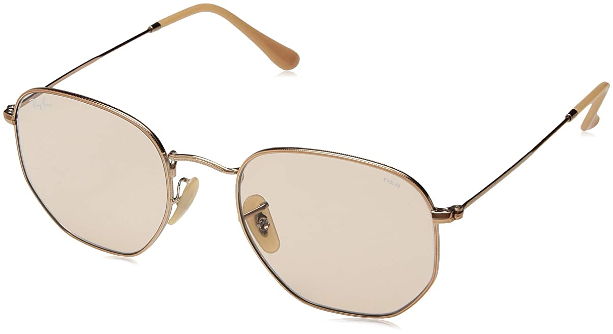 Ray-Ban Men's RB3548N Hexagonal Sunglasses