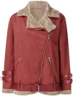 Womens Lambs Wool Liner Coat Leather Jacket