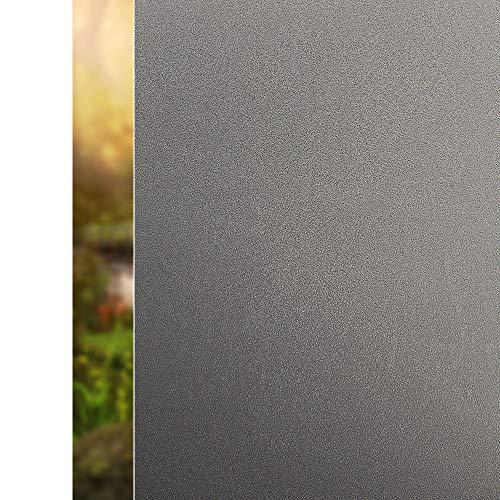 rabbitgoo Fensterfolie Blickdicht Sichtschutzfolie Selbstklebend Verdunkelungsfolie Fenster Klebefolie Statische Folie dunkel für Schlafzimmer Badezimmer Anti-UV Dunkelbraun 90 x 200 cm