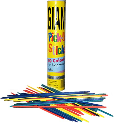 discount Pressman Giant Pick Up Sticks - Classic Game online from Yesterday That's Fun Today 2021 , Yellow , One Size Fits All outlet online sale