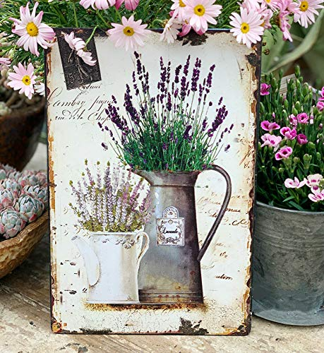 nobrand Lavender Metal Tin Sign 8x12inch Home Kitchen Office Wall Decor Tin Poster