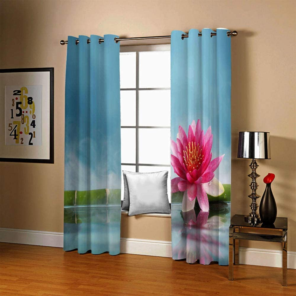 ZCLCHQ 3D Curtain for Bedroom 2021 spring and summer new Orchid Room Sale Bamboo Cur Darkening