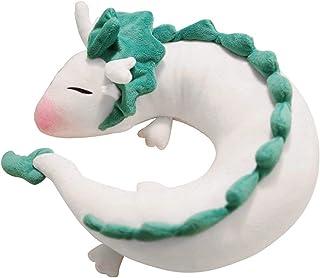 YOUDirect Anime Cute White Dragon Neck Pillow U-shaped Travel Pillow- Doll Plush Toy Haku Dragon Neck Pillow, Soft Plush Dragon Stuffed Doll