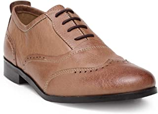HATS OFF ACCESSORIES Tan Crunch Leather Brogue Shoes