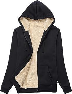 ZITY Womens Winter Fleece Jacket Coat Sherpa Lined Full Zip Up Hoodie Sweatshirt with Pocket