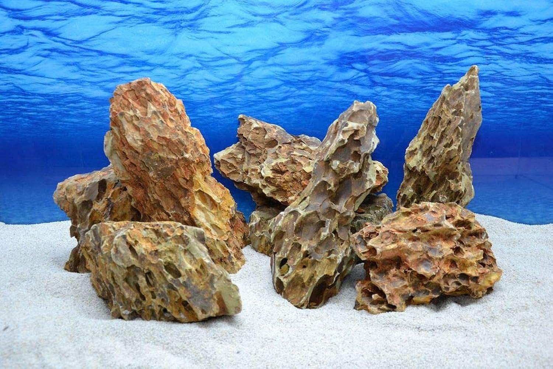 Natural Stones in Desert Sand Look Decoration Aquarium Ornament Decoration Stones No. 64