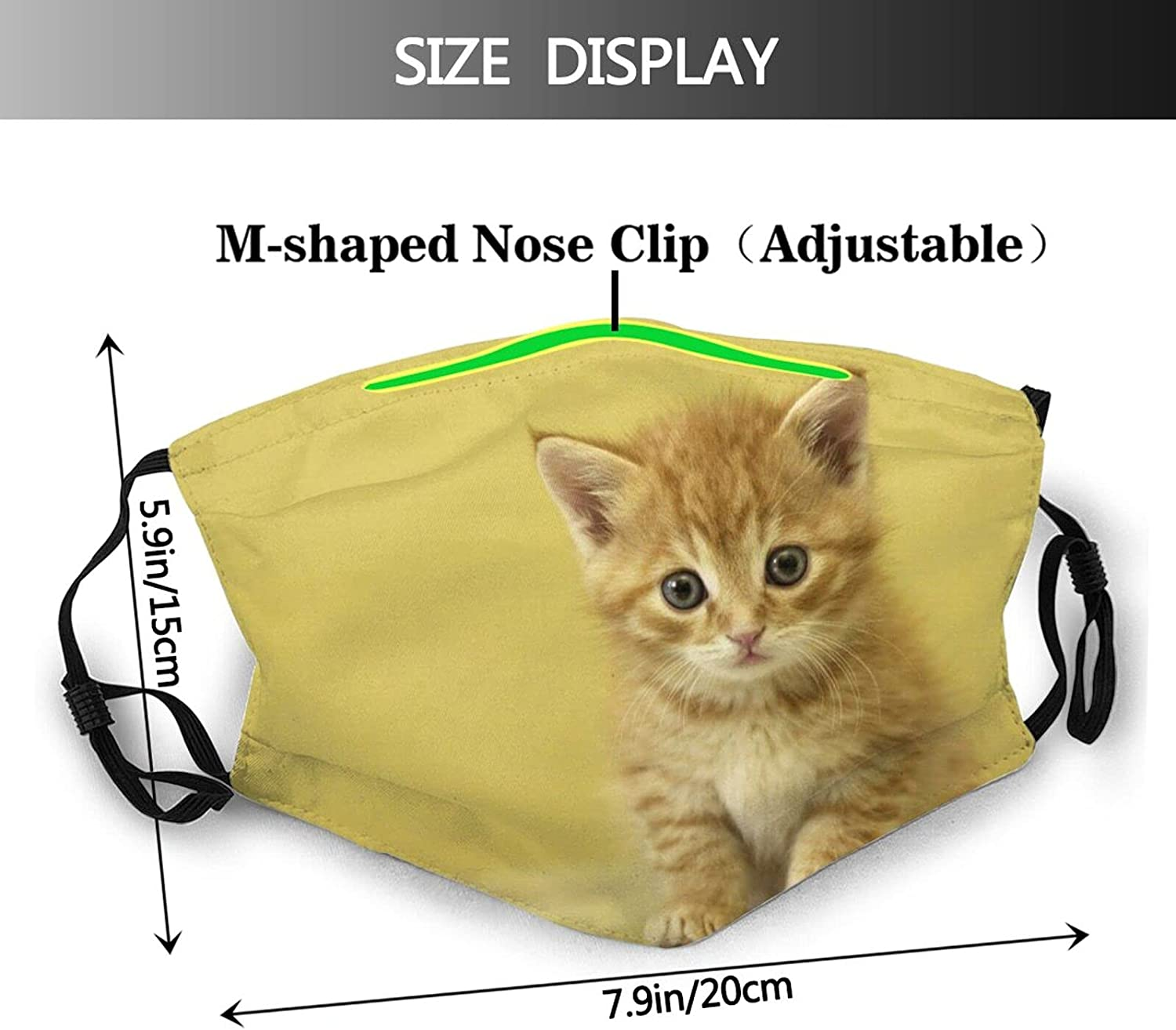 Kegill Smile Cat Face Mask,Unisex Balaclava Face Mask Comfortable Washable Reusable Cloth Fashion Scarf with Filter