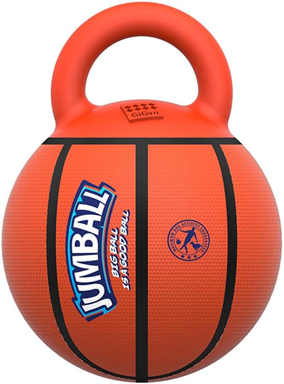 Cane giocattolo sferico Manica gomma Hu Ding Training Bouncy Ball, Pet Supplies (Colore: C)