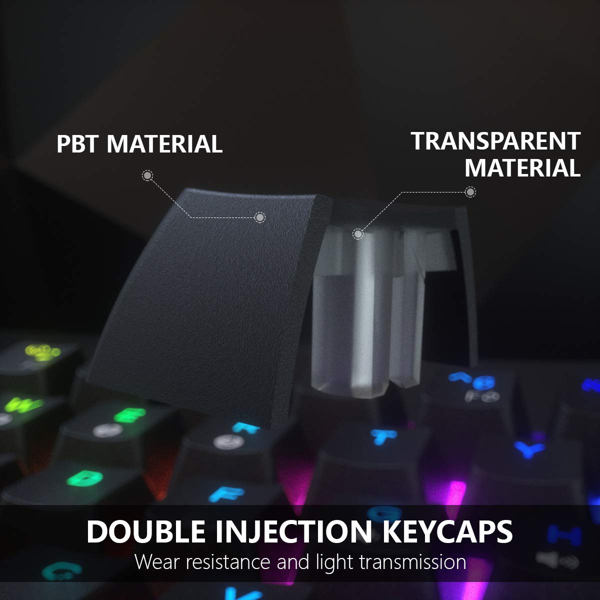 DIERYA DK61E 60% Mechanical Gaming Keyboard, RGB Backlit Wired PBT Keycap Waterproof Type-C Mini Compact 61 Keys Computer Keyboard with Full Keys Programmable (Gateron Optical Brown Switch)