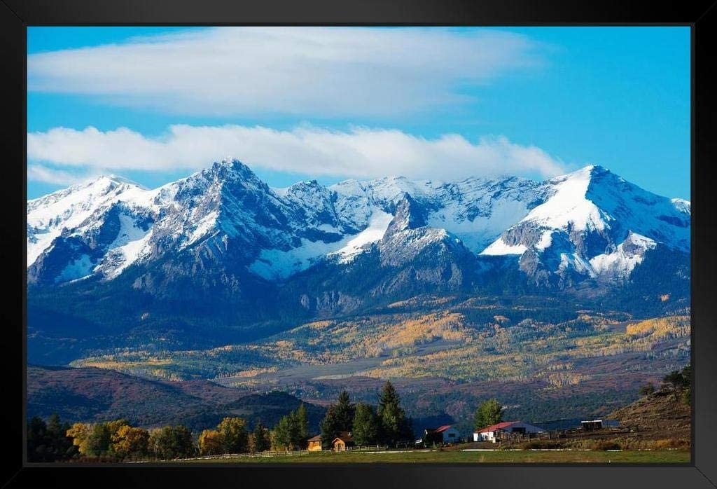Snow Covered Rocky Mountains Rural Max 45% OFF Photo Landscape Photograph Max 71% OFF Wh